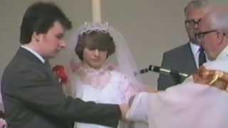 Martin and Sharon's Butler Wedding Part 2 1984 The Bride Arrives