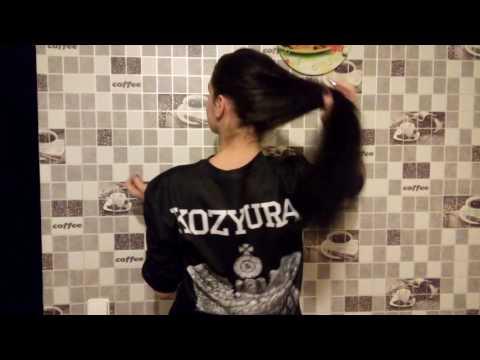 Наращивание волос. Темные волосы.