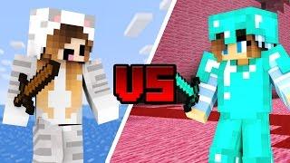 NOOB GIRL vs PRO GIRL - Minecraft (Minecraft Machinima)