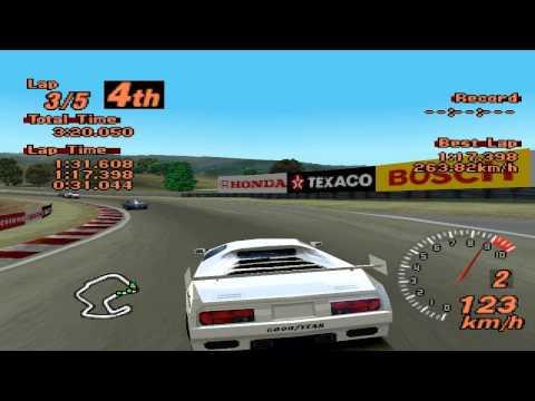 Gran Turismo 2 - Laguna Seca Raceway - Vector M12 LM Edition - EPSXe 1.8.0