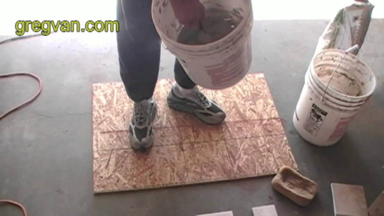 How To Mix Ceramic Tile Thin Set Adhesive Youtube