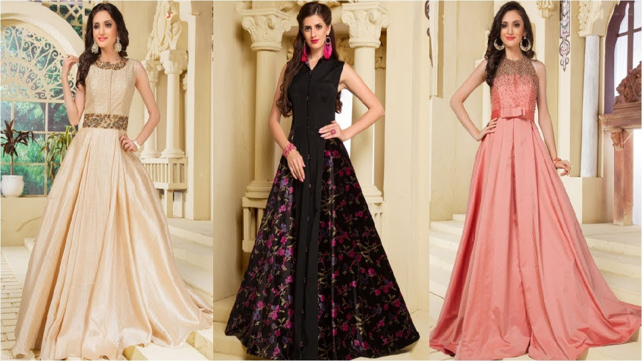 Latest Gown Designs /Indian Bridal Gowns/Long Gown Dress Designs ...