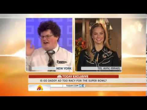 Bar Refaeli & Jesse Heiman On Today Show Talking About Go Daddy Commercial Kiss