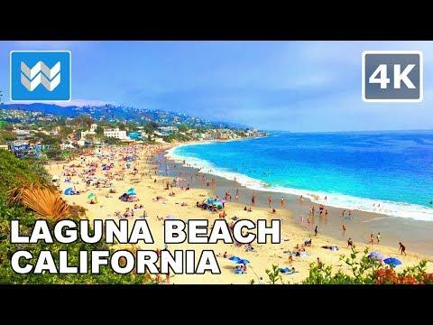 Walking Tour Of Downtown Laguna Beach, Orange County, California | Travel Guide 🎧 【4K】