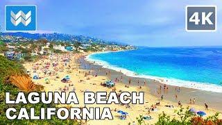Walking tour of Downtown Laguna Beach, Orange County, California   Travel Guide 🎧 【4K】
