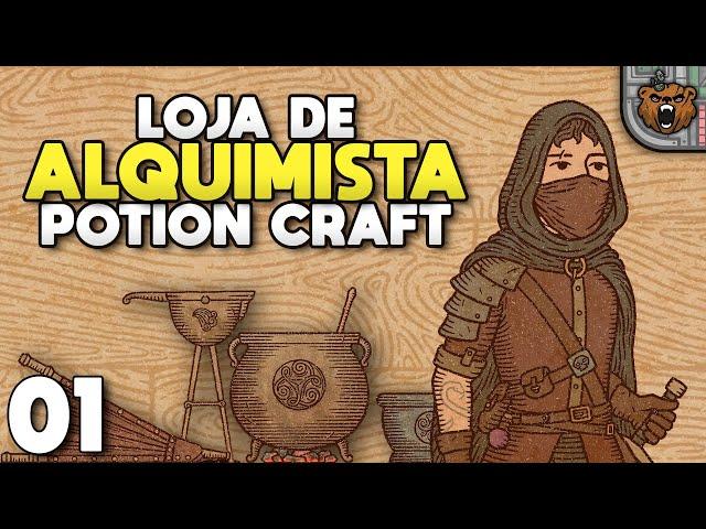 Nosso proprio laboratório de alquimia - Potion Craft #01 | Gameplay 4k PT-BR
