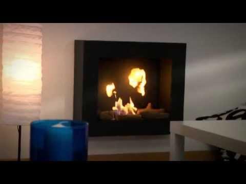 Biochimenea de pared mod af bb purline youtube - Biochimenea de pared ...