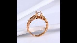 Обзор женского кольцо из медицинского золота WomenCity
