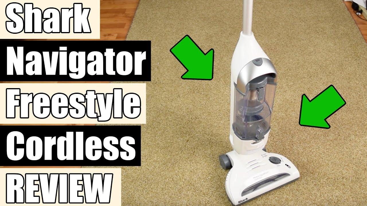 Shark Navigator Freestyle Upright Cordless Vacuum Sv1106 Review Youtube