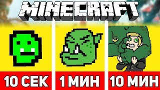 РИСУЕМ ОРКА ЗА 10 СЕКУНД / 1 МИНУТУ / 10 МИНУТ В МАЙНКРАФТЕ | Minecraft Битва Художников #9