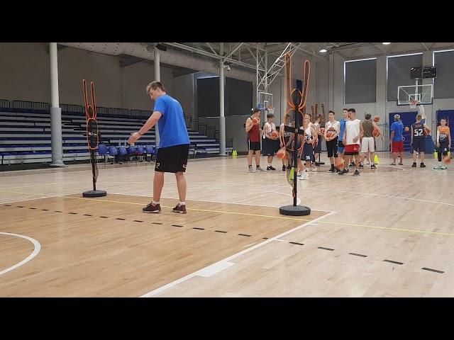 Obóz koszykarski Basketmania Camp - trening poranny 1.07.2019 - grupa 3 part.2
