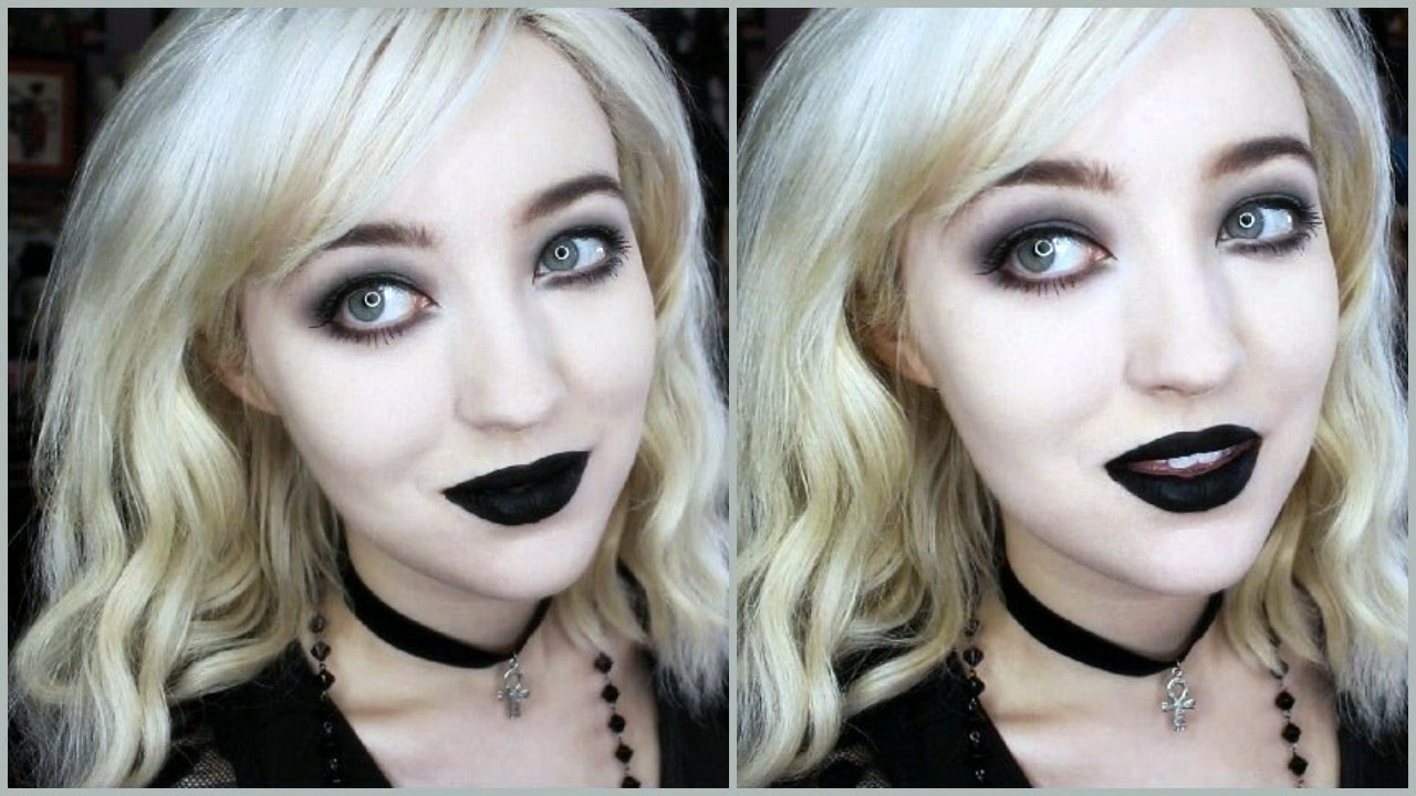 Goth Makeup For Beginners Simple Quick Youtube