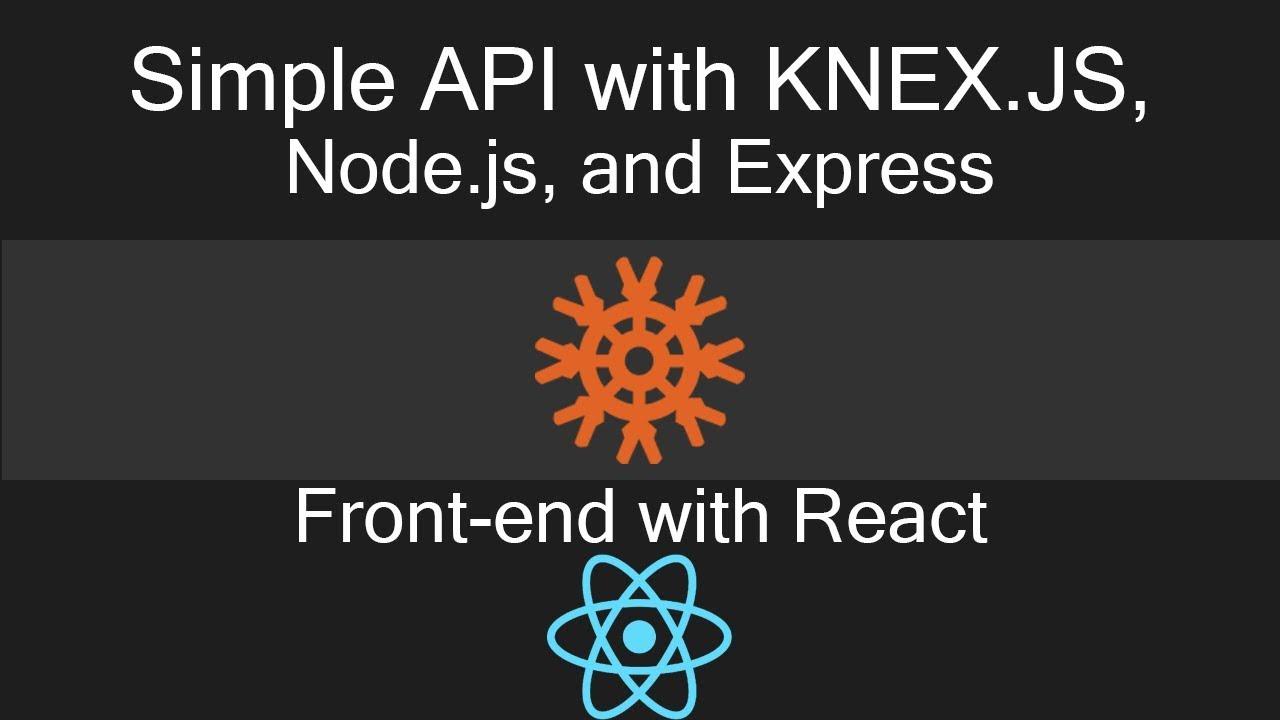 Knex js example