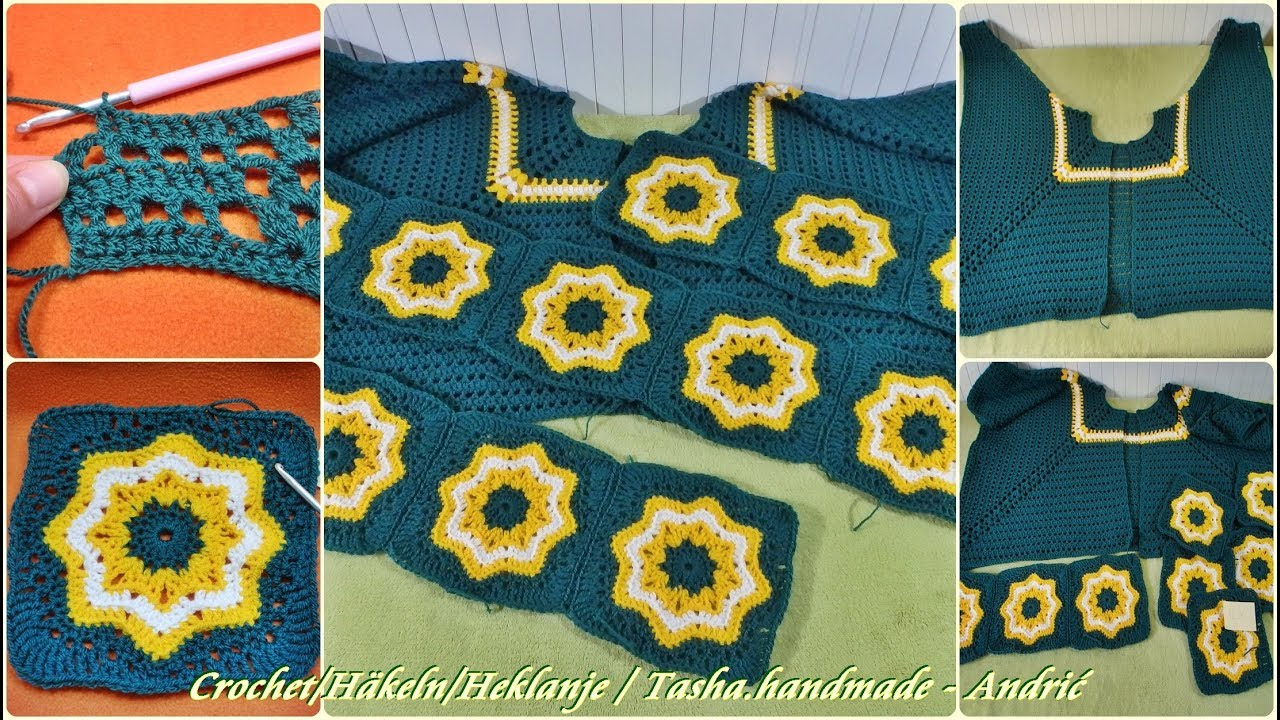 Learn How To Crochet This Lovely Retro Poncho Jacket Part 1