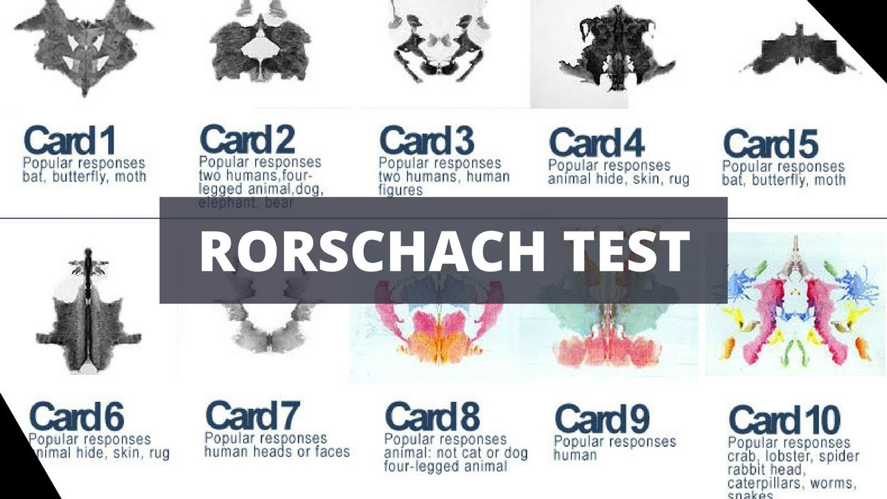 personality psychology and rorschach inkblot test The thematic apperception test, or tat, is a projective psychological test   unconscious to reveal repressed aspects of personality, motives and needs for  achievement, power and intimacy,  psychological testing: rorschach inkblot  test.