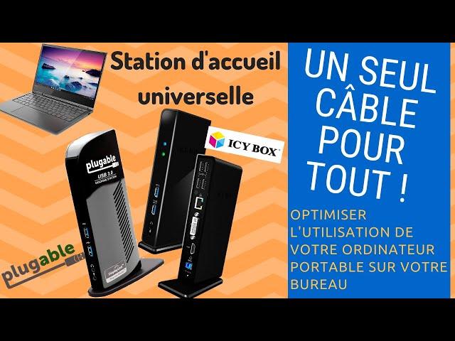 Test station d'accueil pour PC portable pluggable et icybox