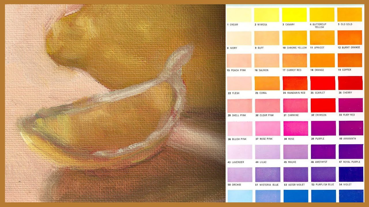 Acrylic Painting Tip 74 How To Apply Color Charts For Paintings