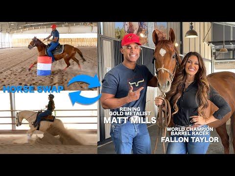 HORSE SWAP WITH MATT MILLS! (REINING VS. BARREL RACING)
