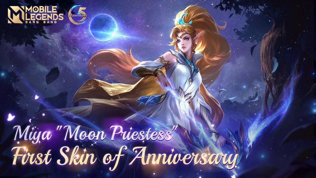 Download Miya's New Skin | Anniversary Skin | Moon Priestess | Mobile Legends: Bang Bang