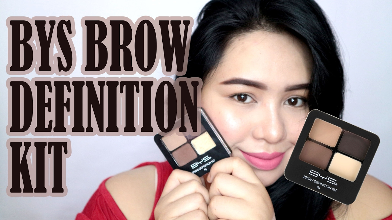 Eyebrow Tutorial Using Bys Brow Definition Kit Karenliz Tv Youtube