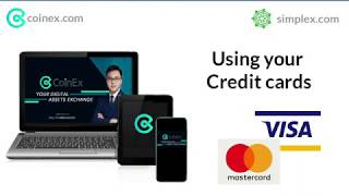 Buy Cryptocurrency at Coinex using Credit Card