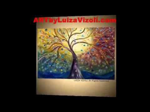 One of a Kind Modern PAINTINGS, Abstract ART Gallery Video-ARTbyLuizaVizoli.com