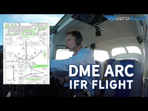 Can you fly a DME arc? IFR approach - MzeroA Flight Training