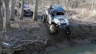 polaris rzr xp vs can am commander x technical trail riding re uploaded with sound