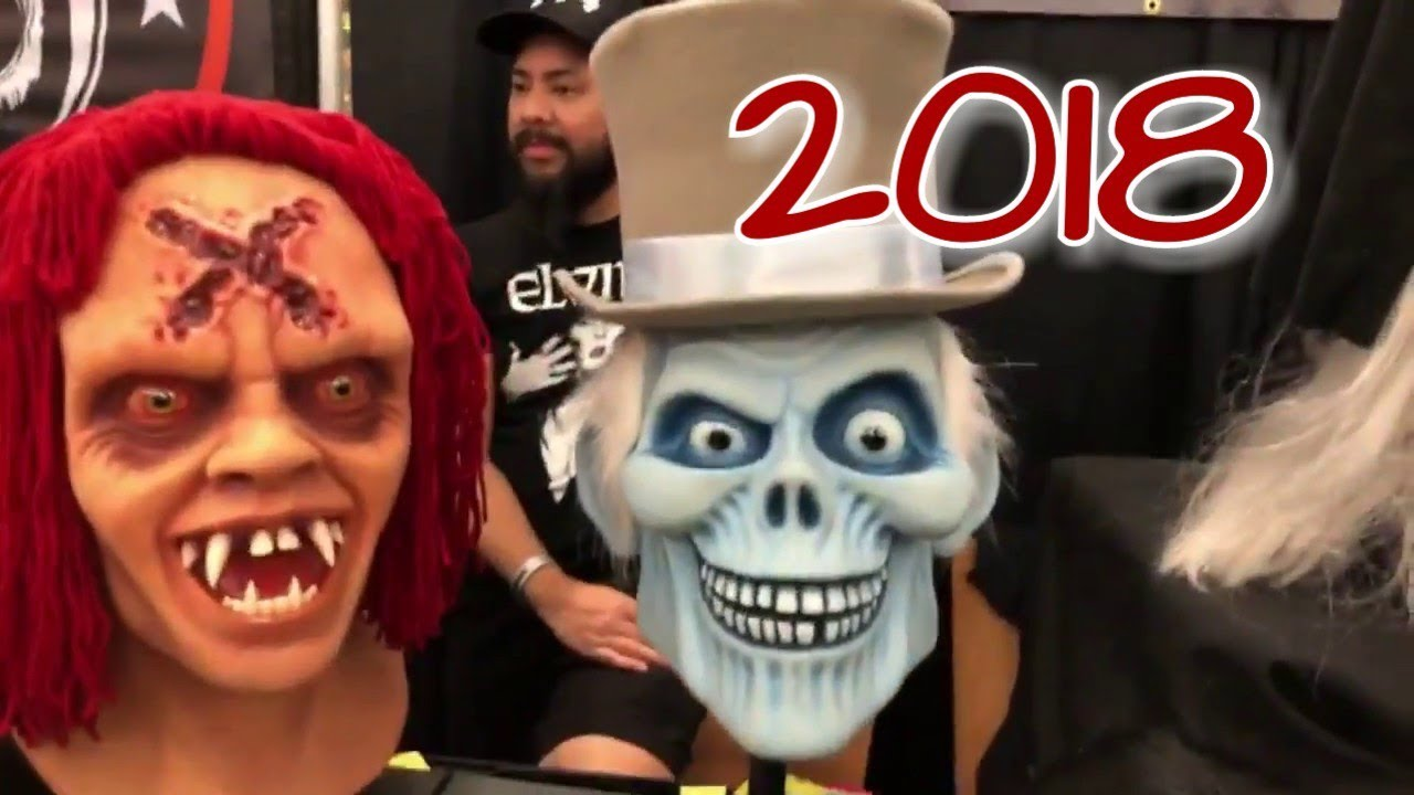 mask fest horrorhound indianapolis /// halloween mask 2018 - youtube