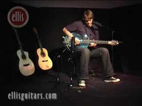 resonator steel guitar with ellis foot Stompin Bass pedal drum