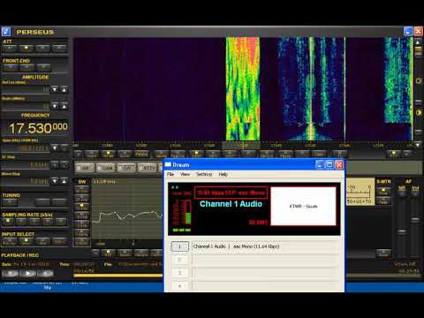 Trans World Radio (KTWR) Agana, Guam DRM test broadcast to India on 17530 Khz