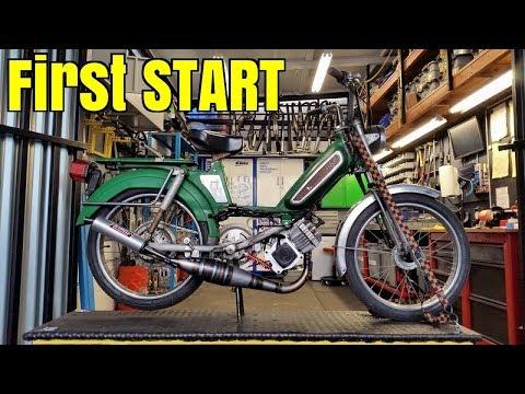 Peugeot 70cc Metrakit 1er demarrage ca watt !