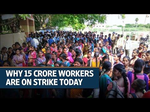 Bharat Bandh: Trade union strike shuts down parts of India