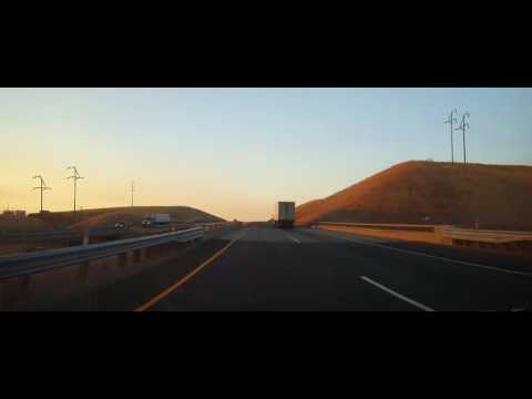Driving on Interstate 5 from Tracy, CA to Bakersfield, California