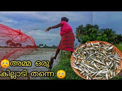 വീട്ടിലെ പോരാളിയും ക്യാമറ പെണ്ണും  മീൻ പിടിക്കാൻ  ഇറങ്ങിയപ്പോൾ  cast net fishing mother camera girl 