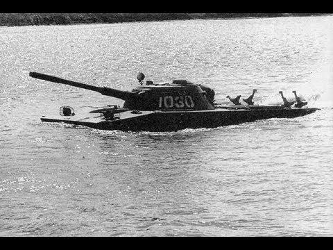 Видео как плавает танк пт 76