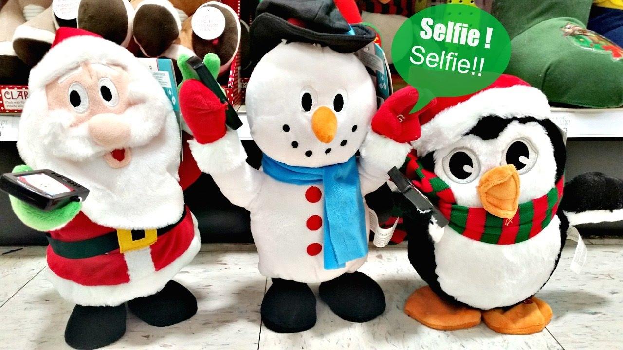 side stepping selfie santa snowman penguin gemmy industries youtube - Santa Snowman
