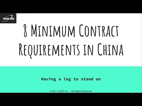 Importing - 8 Minimum Contract Requirements for Foreign Supp