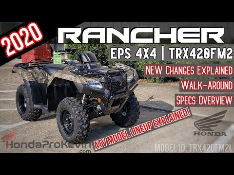 2020 Honda Rancher 420 EPS 4x4 ATV Review of Specs + NEW Changes Explained! | TRX420FM2 Camo