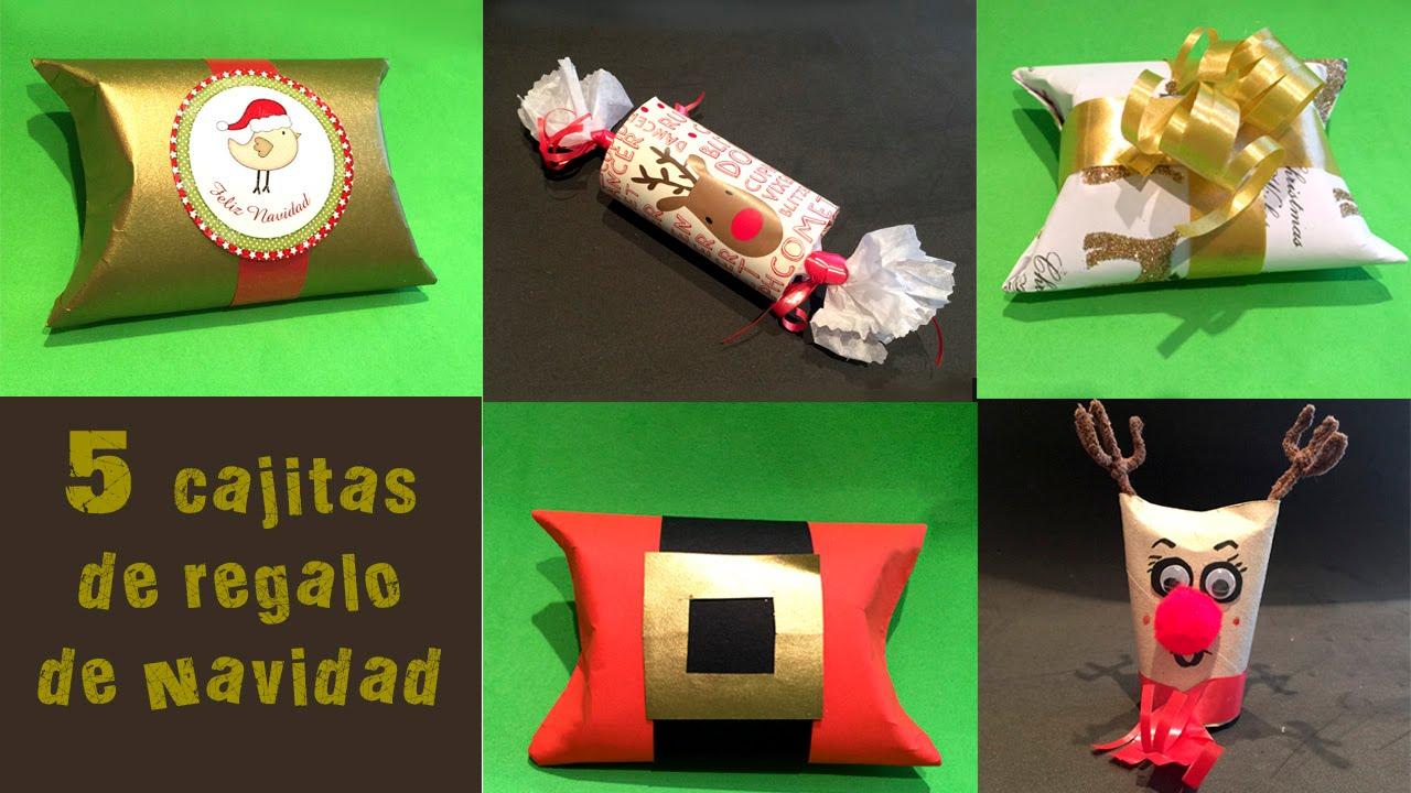 1387b0eaf 5 Cajitas de regalo de navidad con tubos de papel higienico - YouTube