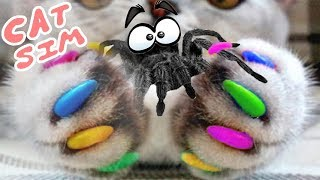 В  подземелье с котом в игре для детей кэт сим