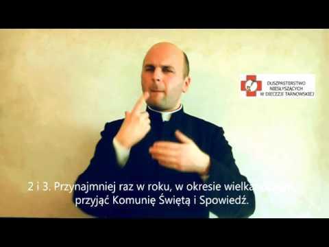 5 Przykazań Kościelnych w języku migowym