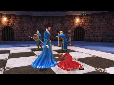 4K Battle Chess Game of Kings  I BLUE QUEEN VS RED QUEEN  