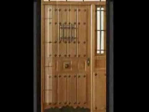 Puertas entrada madera maciza valera de abajo youtube for Puertas de madera maciza exterior