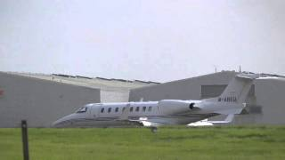 MABEU private jet takes off heading 4 usa Plane spotting London Stansted 9oct15 149pm vid190