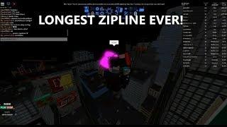 I made the longest zip line EVER!! - Parkour - Roblox