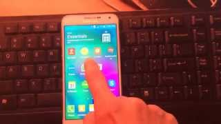 set default main home screen android galaxy e7