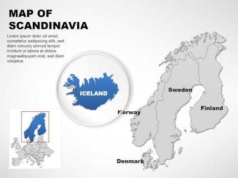 Scandinavia Keynote maps - Scandinavia maps