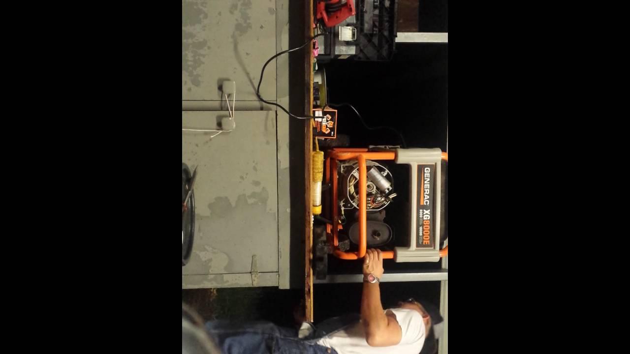 Generac 8000 Generator Capacitor Flash Test Youtube Wiring Field