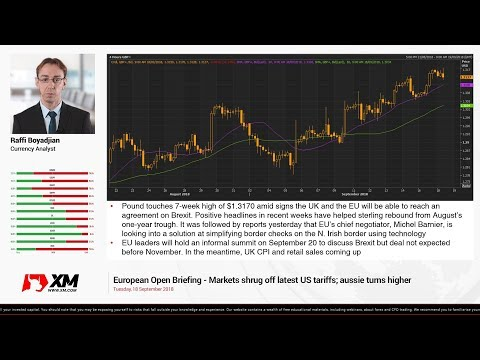 Forex News: 19/09/2018 - Risk-on mood improves further even as trade tensions escalate
